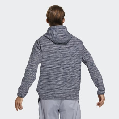 Men Golf Blue Hooded Sweatshirt