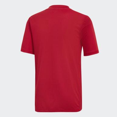 Camiseta Striped 19 Rojo Niño Training