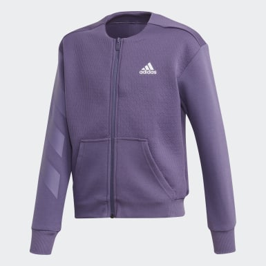 Youth 8-16 Years Athletics Purple XFG Sweatshirt Track Top