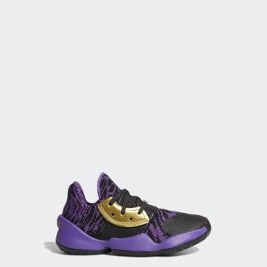 Kids Basketball Black Harden Vol. 4 Star Wars Lightsaber Purple Shoes