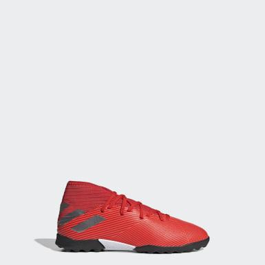 Calzado de Fútbol Nemeziz 19.3 Césped Artificial (UNISEX) Rojo Niño Fútbol