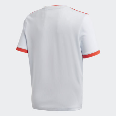 Kinderen Voetbal Wit Spanje Uitshirt