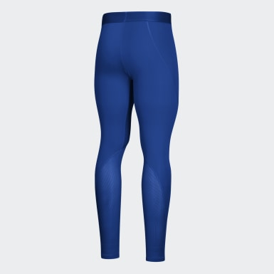 Youth Training Blue Alphaskin Baselayer Long Tights