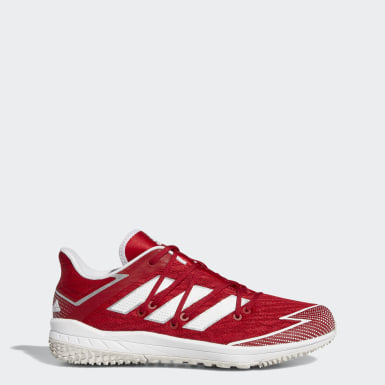 Men's Baseball Red Adizero Afterburner Turf Shoes