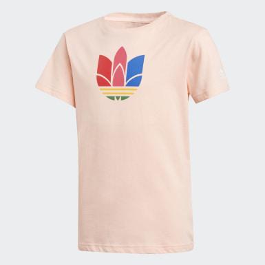 Camiseta Adicolor Trifolio 3D Rosa Niño Originals