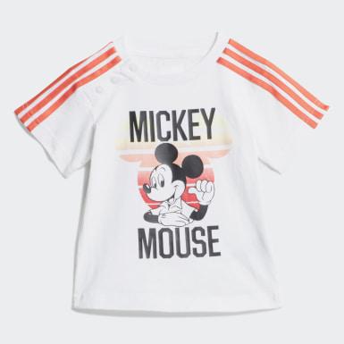 Conjunto de Verão Disney Mickey Mouse Branco Rapazes Treino