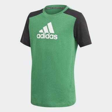 Youth 8-16 Years Training Green Logo T-Shirt