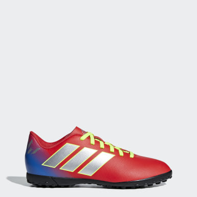 Children Football Red Nemeziz Messi Tango 18.4 Turf Boots