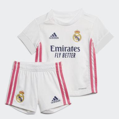 Divisa Baby Home 20/21 Real Madrid Bianco Bambini Calcio