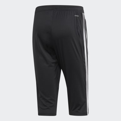 Men Soccer Black Tiro 19 3/4 Pants