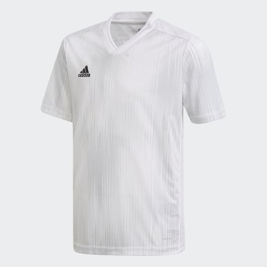 Youth Soccer White Tiro 19 Jersey