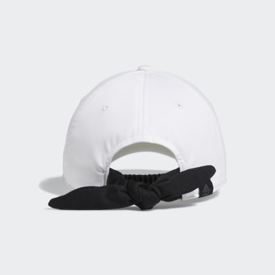 Women Golf White Silver Logo Cap