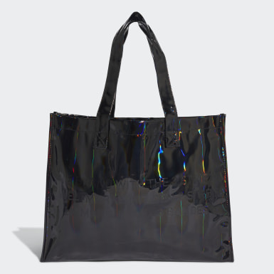 Bolsa Shopper Metalizada Negro Mujer Originals