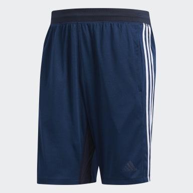 Men's Running Blue 4KRFT Sport Heather 3-Stripes Shorts