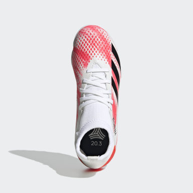 Calzado de Fútbol Predator 20.3 Pasto Sintético Blanco Niño Fútbol
