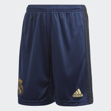 Boys Fotboll Blå Real Madrid Away Shorts