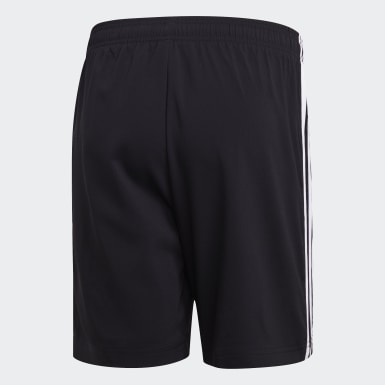 Heren Athletics Zwart Essentials 3-Stripes Chelsea Short 7 inch