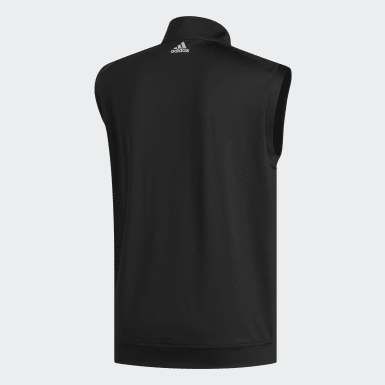 Men Golf Black Classic Club 1/4 Zip Vest