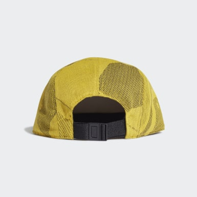 Hiking Yellow Five-Panel Graphic Cap