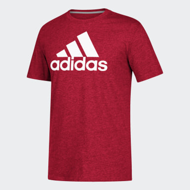 Men's Sport Inspired Red Badge of Sport Tee