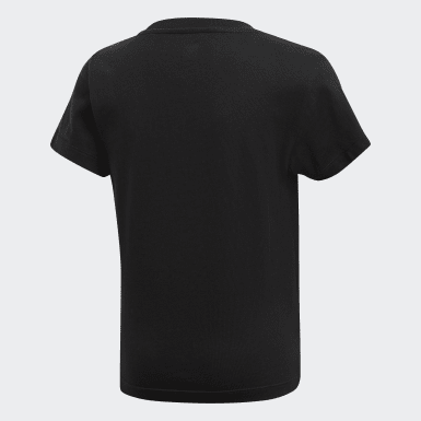 Børn Originals Sort Trefoil T-shirt