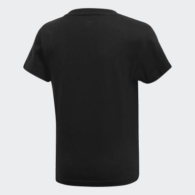 Çocuklar Originals Black Trefoil Tişört