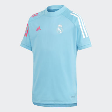Kinderen Voetbal Turquoise Real Madrid Training Shirt