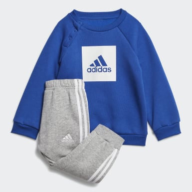 Barn Träning Blå 3-Stripes Fleece Jogger Set