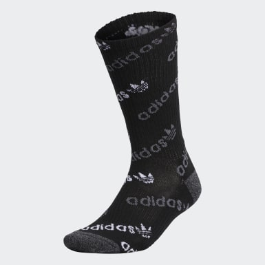 Men's Originals Black Forum Repeat Crew Socks