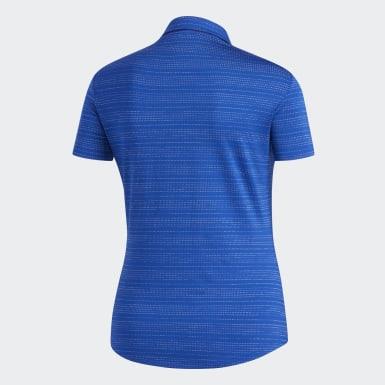 Women Golf Blue Microdot Polo Shirt