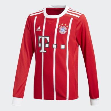 красный Игровая футболка Бавария Мюнхен Home