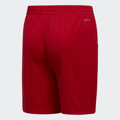 Youth Training Red Pro Sport 3-Stripes Shorts