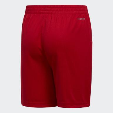 Short Pro Sport3-Stripes rouge Adolescents Entraînement