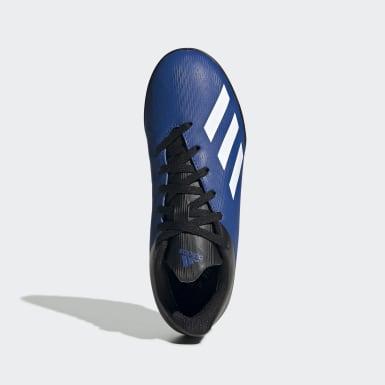 Botines X 19.4 Pasto Artificial Azul Niño Fútbol