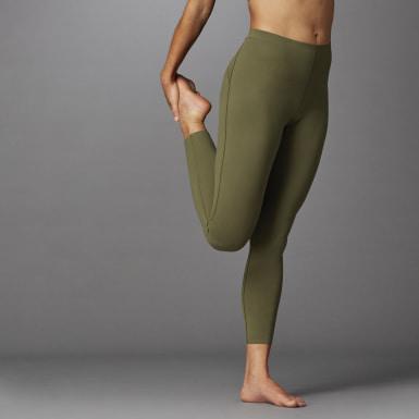 Ženy Běh zelená Legíny Elevate Yoga Flow 7/8