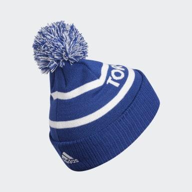 Men's Hockey Multicolor Maple Leafs Cuffed Knit Pom Hat