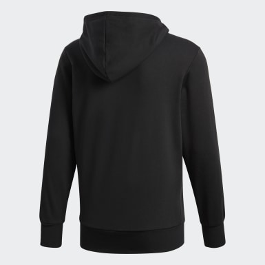 Men Lifestyle Black Essentials 3-Stripes Hoodie