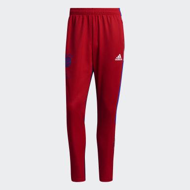 Pantalon d'entraînement FC Bayern Human Race rouge Hommes Soccer