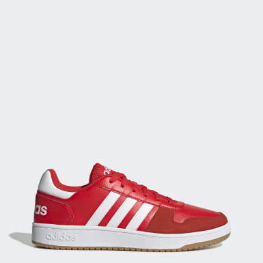 Men Sport Inspired Red Hoops 2.0 Shoes