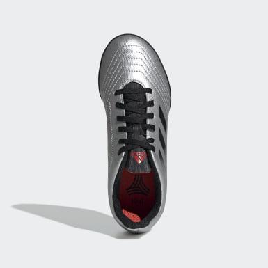 Zapatos de Fútbol Predator Tango 19.4 Césped Artificial Plateado Niño Fútbol