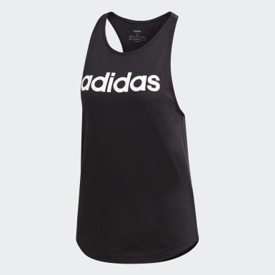 Women Athletics Black Essentials Linear Tank Top