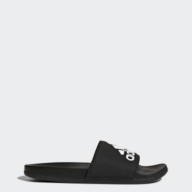 Træning Sort Adilette Cloudfoam Plus Logo sandaler