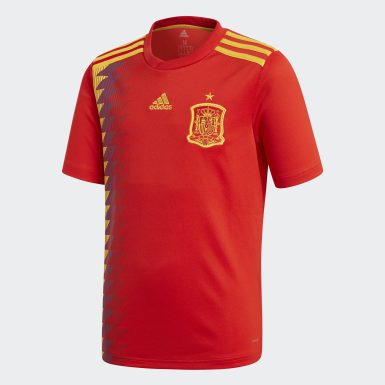 Jersey Spain Home Replica Rojo Niño Fútbol