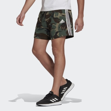 Short Essentials French Terry Camouflage Vert Hommes Athletics