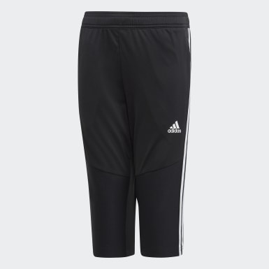 Youth Soccer Black Tiro 19 3/4 Pants