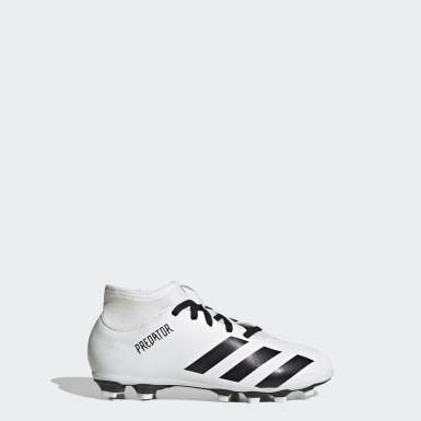 Children Soccer White Predator Mutator 20.4 S Flexible Ground Boots