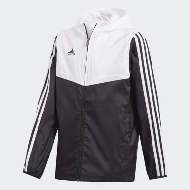 Children Soccer Black Tiro Windbreaker
