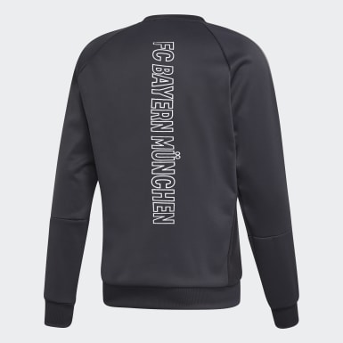 Sweat-shirt FC Bayern Travel Crew Gris Hommes Football