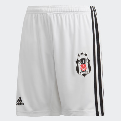 Youth Football White Beşiktaş JK Home Shorts