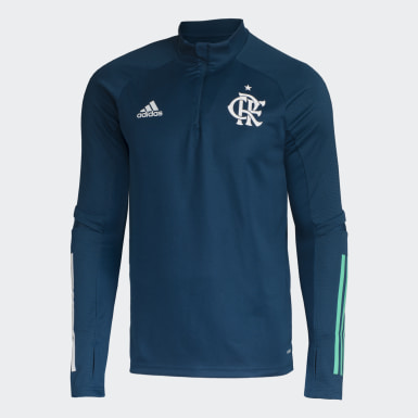Camisa Treino CR Flamengo Azul Homem Futebol